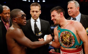Andre Berto, pictued left, put on a valiant display, but Robert Guerrero proved to be one of the sports' finest fighters.