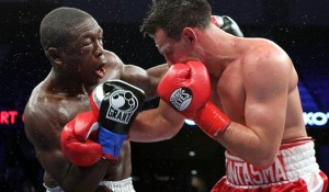 Andre Berto tried to stave off Guerrero, particularly with the uppercut.  Guerrero, however, walk through Berto's dynamite and thwarted Berto's efforts in a brutal display.