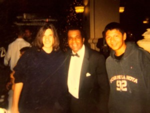 Myself, Emanuel Steward, and a friend of mine in 2005 taking a picture after the Bernard Hopkins-Jermain Taylor rematch.