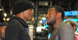 The legendary Bernard Hopkins, pictured left, attempts to defeat yet another young bull on March 9th.  When he takes on  undefeated, IBF world light heavyweight champion, Tavoris Cloud.