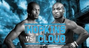 Bernard Hopkins, pictured left, will attempt to defeat the IBF light heavyweight champion of the world, Tavoris Cloud.  Hopkins will be attempting to upend his own record of being the oldest fighter in boxing history to win a world title March 9th at Brooklyn's Barclays Center.
