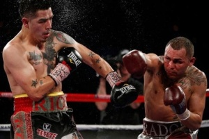 Brandon Rios, pictured left, and MIke Alvarado fought to twelve, edge-of-your-seat rounds last Saturday night in Las Vegas.  Alvarado would gain the edge in bout to secure a victory.