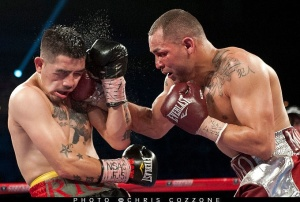 Alvarado was able to repeatedly hit Rios flush with his right hand.  The punch was Alvarado's signature all night.
