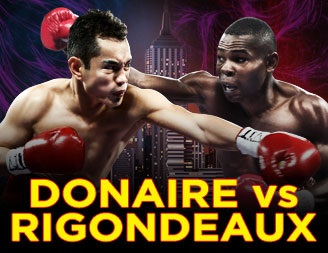 This Saturday, at radio city hall, Nonito Donaire pictured left will be facing Guillermo Rigondeax.  The two fighters hope to emerage as the undisputed champion at super bantamweight.