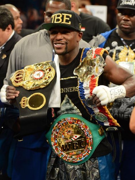Floyd Mayweather once again prevailed over a game and impressive Saul Canelo Alvarez to become the fighter with the most world championships won in the history of the sport Saturday night.