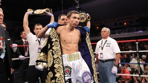 "Undefeated WBA middleweight champion of the world, Gennady ""GGG"" Golovkin is widely considered the hardest puncher in the world pound for pound.  He will be defending his title tonight in New York City.  Stevens, (25-3, 18 KOs) is a big mouth underdog assured of himself that he will get the upset."