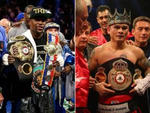 WBC Welterweight world champion, Floyd Mayweather (45-0, 26 KOs), looks to unify against fellow welterweight world champion, WBA champion Marcos Maidana (35-3, 31 KOs).  Saturday night in Las Vegas.