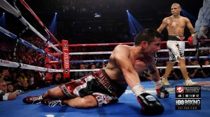 Miguel Cotto (39-4, 32 KOs), dominated Sergio Martinez (51-3-2, 28 KOs), in front of a sold out adoring crowd to take Martinez's middleweight championship of the world.
