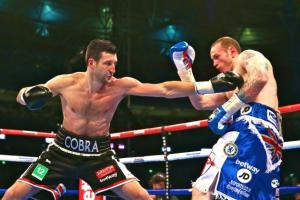 Carl Froch (33-2, 24 KOs), successfully defended his IBF-WBA super middleweight world championships Saturday night with a scintillating eighth round knockout over George Groves, (19-2, 15 KOs).
